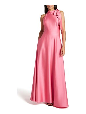 Tahari hammered satin a-line gown