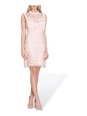 Tahari high neck lace sheath dress