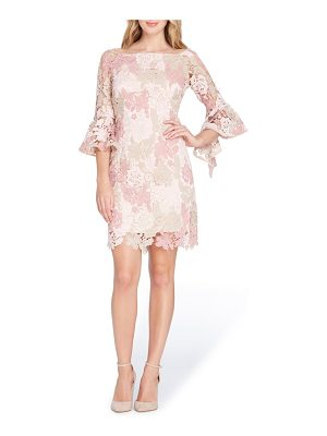Tahari lace bell sleeve sheath dress