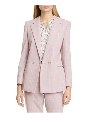TAILORED BY REBECCA TAYLOR rose plaid jacket