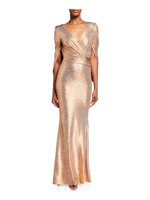 Talbot Runhof Mirrorball Stretch Draped Gown
