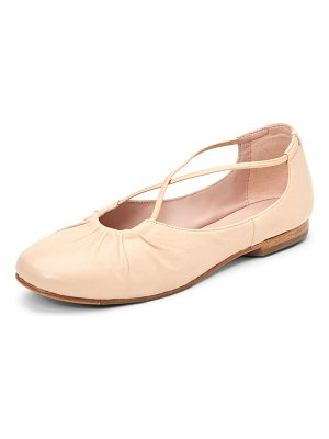 TARYN ROSE COLLECTION Alessandra Cross-Strap Leather Ballet Flats