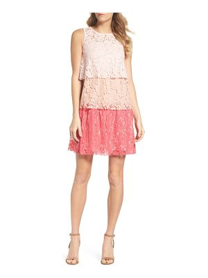 TAYLOR DRESSES Sleeveless Tiered Lace Dress