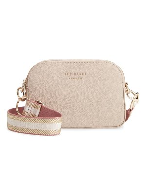 Ted Baker amerrah branded strap leather crossbody bag
