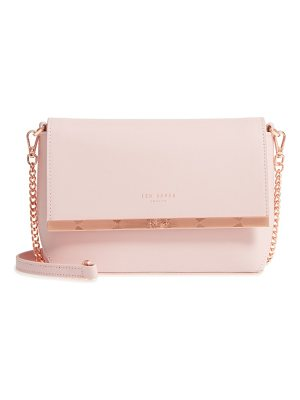 TED BAKER Bow Embossed Leather Crossbody Bag