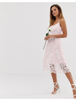 Ted Baker bridal premium lace midi dress-pink
