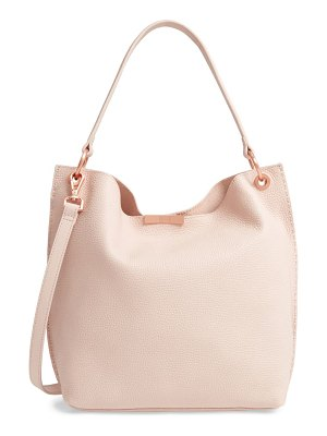 Ted Baker candiee faceted bar leather hobo