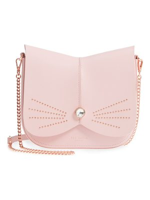 TED BAKER Chriiss Cat Stud Leather Crossbody Bag