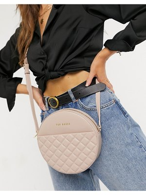 Ted Baker cirus quilted circle bag in pink