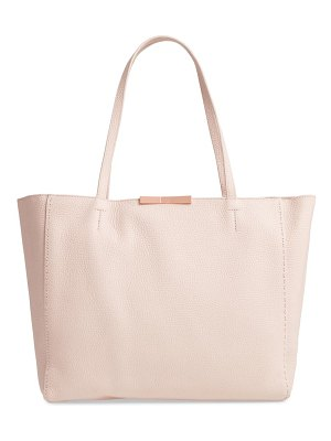 Ted Baker clarkia faceted bar leather shopper