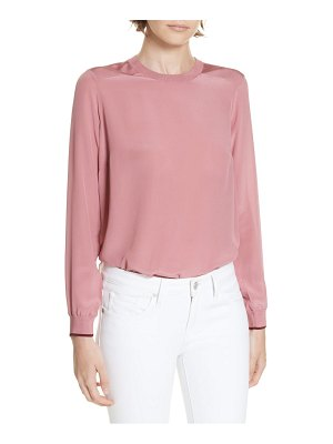 Ted Baker colour by numbers knit trim silk top