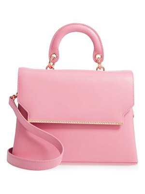 Ted Baker crystal bar leather top handle satchel