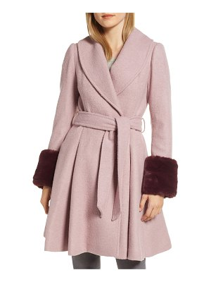 Ted Baker faux fur cuff skirted coat