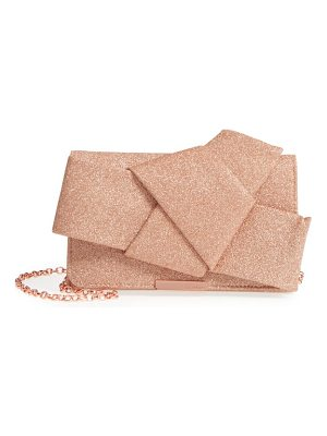 TED BAKER Fefee Glitter Knotted Bow Clutch