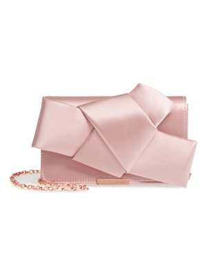 TED BAKER Fefee Satin Knotted Bow Clutch