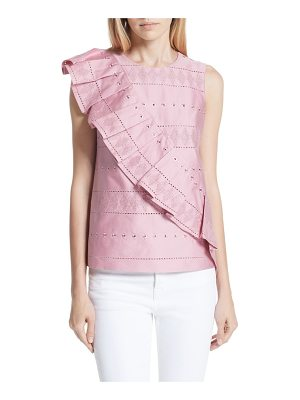 Ted Baker forelli ruffle front embroidered blouse