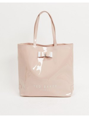 Ted Baker hanacon patent bow large icon bag-pink
