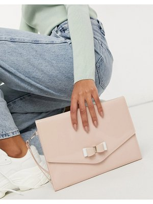 Ted Baker harliee bow envelope clutch bag in pink