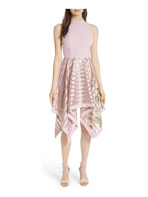 Ted Baker harmony burnout metallic stripe dress