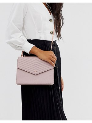 Ted Baker kalila bow detail envelope leather crossbody bag-pink