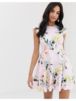Ted Baker karsali elegance scalloped skater dress