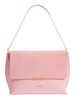 Ted Baker katlynn suede & leather shoulder bag