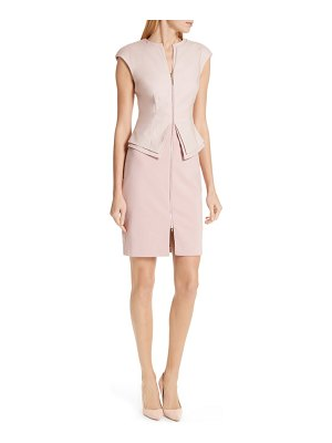 Ted Baker kwyli structured peplum body-con dress