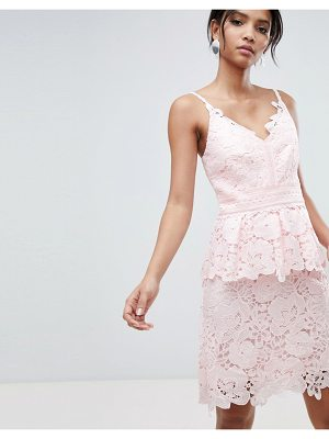 Ted Baker lace peplum dress