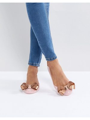 Ted Baker Larmiar Pink And Rose Gold Ballet Flats