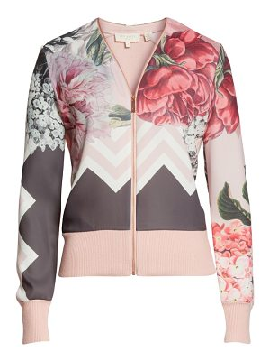 TED BAKER Palace Gardens Zip-Up Cardigan
