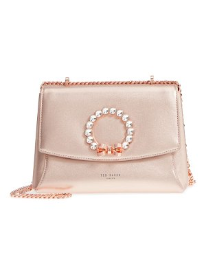 Ted Baker pearlz embellished leather crossbody bag