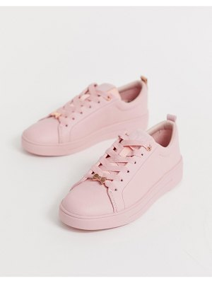 Ted Baker pink drench leather sneakers