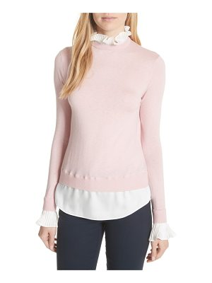 TED BAKER Pleated Ruffle Contrast Sweater