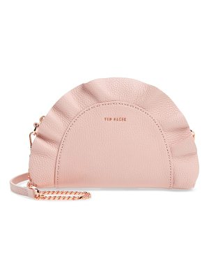 Ted Baker ruffle half moon leather crossbody bag