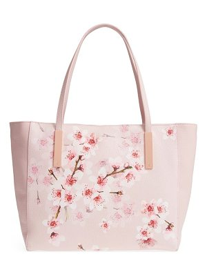 TED BAKER Soft Blossom Leather Shopper