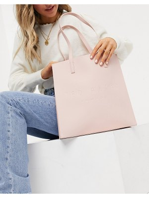 Ted Baker soocon crosshatch large icon bag in pink