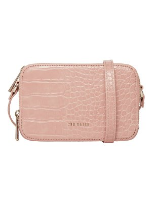 Ted Baker stina embossed faux leather crossbody bag