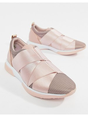 Ted Baker strap detail light pink sporty sneakers