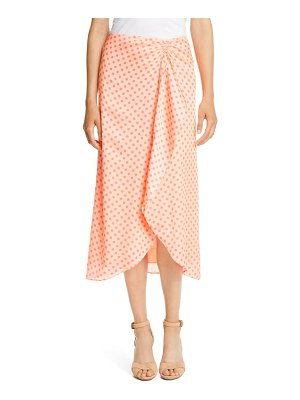 Ted Baker tiara dot ruched drape ruffle skirt