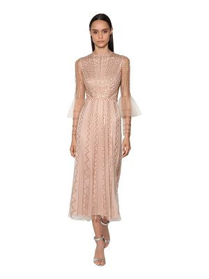 Temperley London Bead & sequin embellished tulle dress