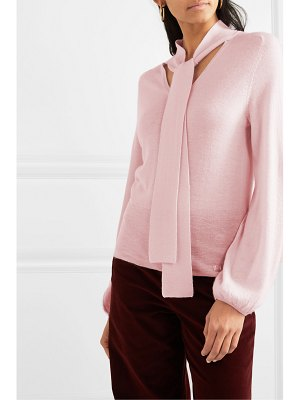 Temperley London chime tie-neck cashmere sweater