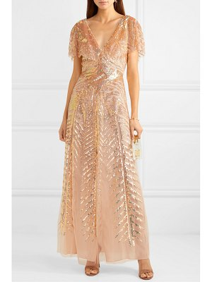 Temperley London dusk sequined tulle gown