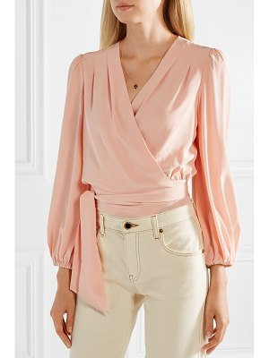 Temperley London eden silk crepe de chine wrap top