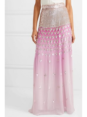 Temperley London mirela dégradé sequin-embellished chiffon maxi skirt