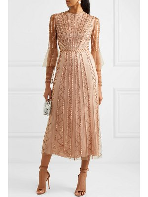 Temperley London queenie embellished tulle midi dress