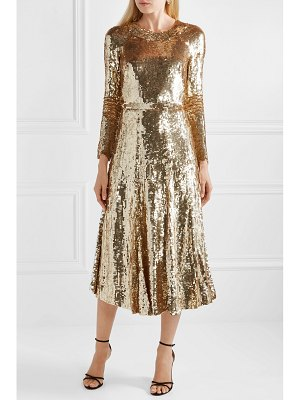 Temperley London ray sequined chiffon midi dress