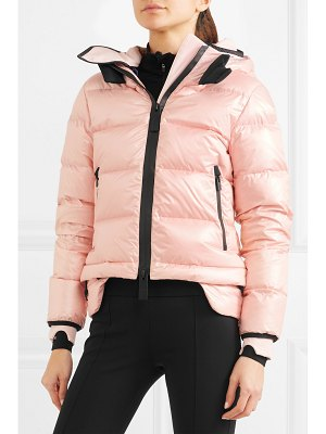 TEMPLA nano hooded quilted shell down coat