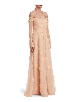 Teri Jon off-the-shoulder gown