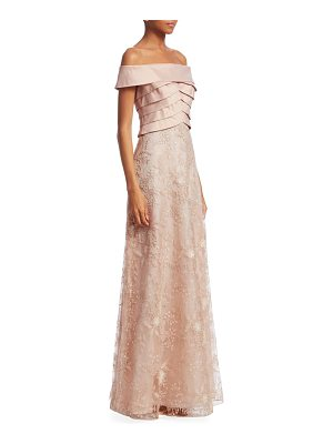 Teri Jon off-the-shoulder sequin gown