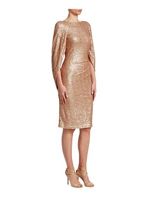 TERI JON Sequined Knee-Length Dress